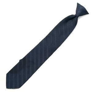 "Boys/Youth 17"" Clip on Tie Dark Blue with Stripes"